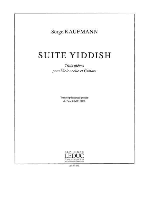 Suite Yiddish - Serge Kaufmann - Partition - 0 - laflutedepan.com