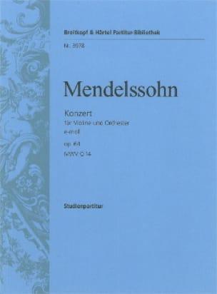 Concerto Violon en mi mineur op. 64 - MENDELSSOHN - laflutedepan.com