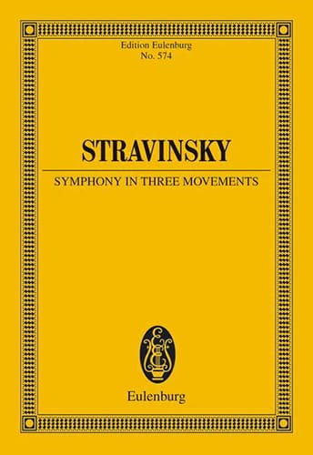 Igor Stravinsky - Symphony in three movements - Partition - di-arezzo.co.uk