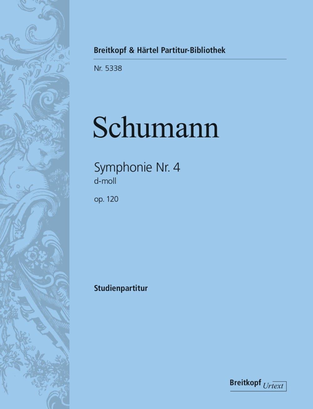 SCHUMANN - Sinfonía n. ° 4 en D mín. Op. 120 - Partition - di-arezzo.es