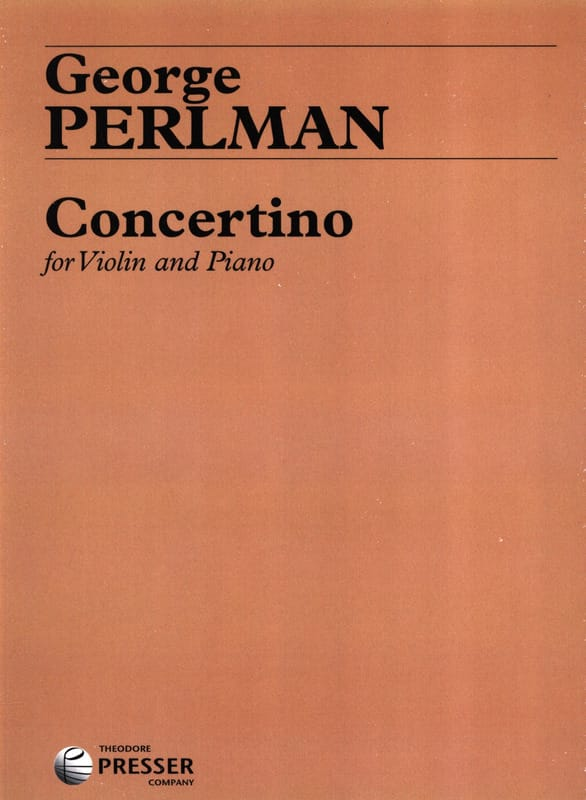 George Perlman - Concertino - Partition - di-arezzo.co.uk
