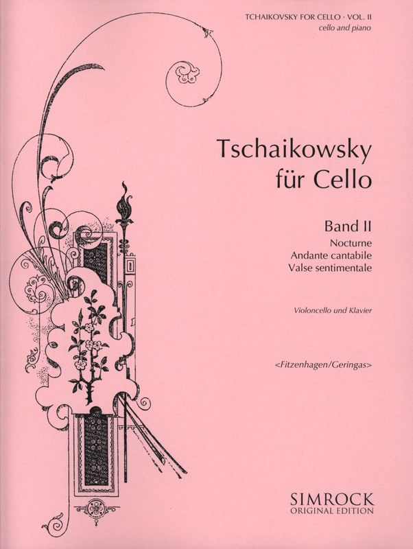 TCHAIKOVSKY - Tchaikovsky For Cello, Volume 2 - Partition - di-arezzo.com