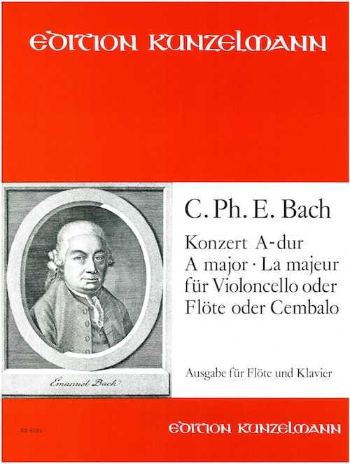 Konzert A-Dur für Flöte - Carl Philipp Emanuel Bach - laflutedepan.com