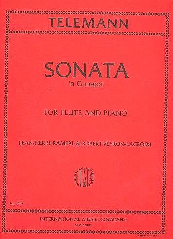 Sonata in G major - Flute piano - TELEMANN - laflutedepan.com