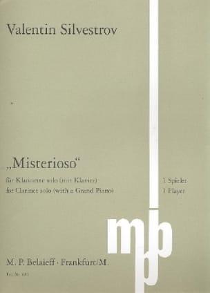 Misterioso - Valentin Silvestrov - Partition - laflutedepan.com