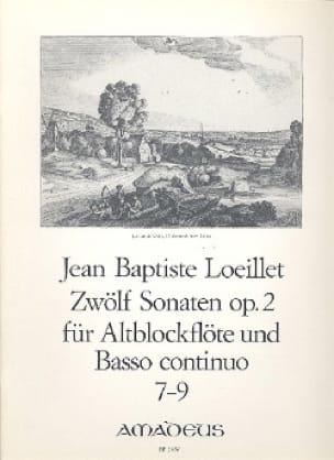 Jean-Baptiste Loeillet - 12 Sonaten op. 2: No. 7-9 - Altblockflöten u. Bc - Partition - di-arezzo.co.uk