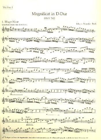 BACH - Magnificat D-Dur BWV 243 - Matériel Complet - Partition - di-arezzo.fr