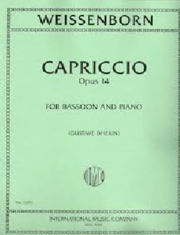 Capriccio Op 14 - Julius Weissenborn - Partition - laflutedepan.com