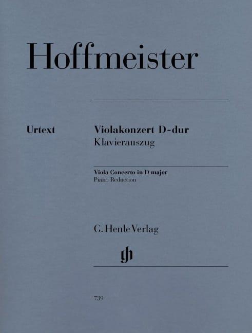 Concerto pour Alto en Ré Majeur - HOFFMEISTER - laflutedepan.com