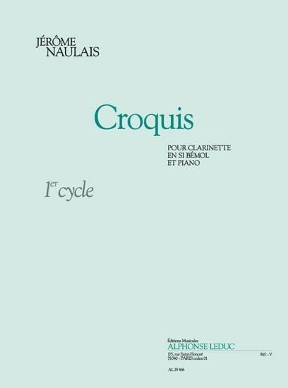Croquis - Jérôme Naulais - Partition - Clarinette - laflutedepan.com