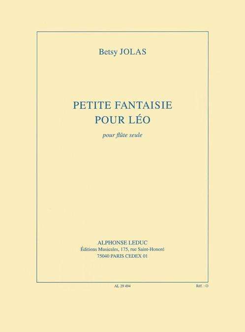 Petite fantaisie pour Léo - Betsy Jolas - laflutedepan.com