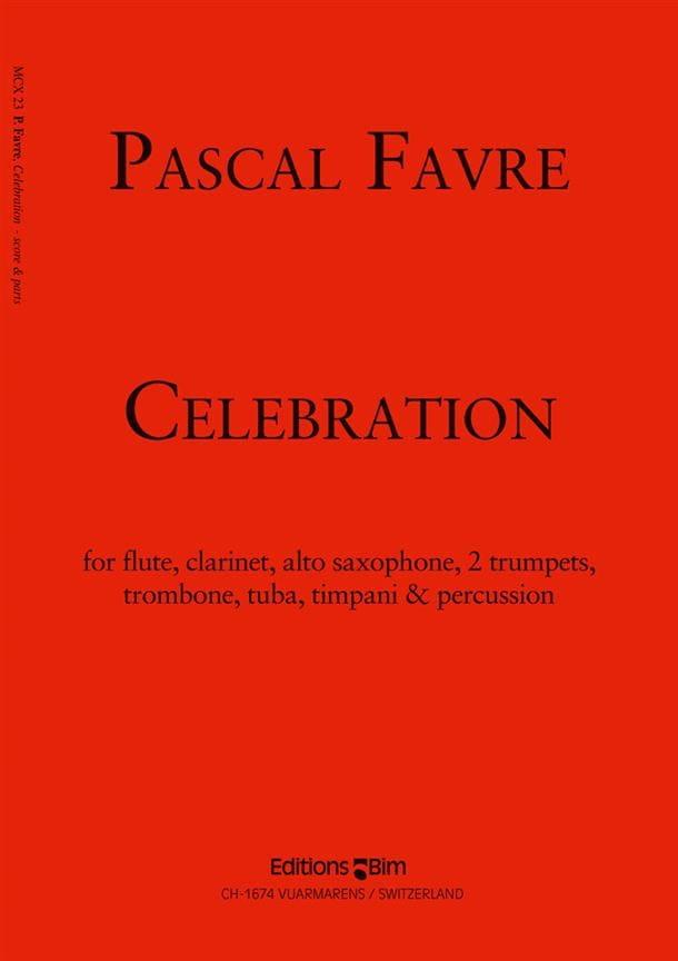 Celebration - Pascal Favre - Partition - laflutedepan.com