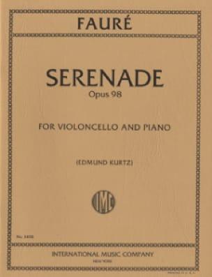 Sérénade op. 98 - FAURÉ - Partition - Violoncelle - laflutedepan.com