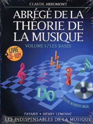Claude Abromont - Abridged from music theory Volume 1 Rom - Partition - di-arezzo.co.uk
