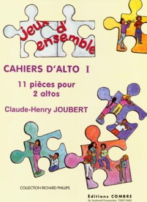 Claude-Henry Joubert - Cahiers D'alto 1 - Partition - di-arezzo.fr