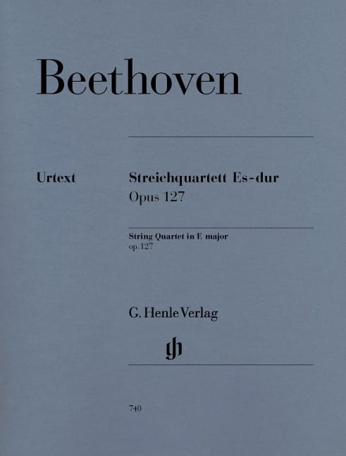 BEETHOVEN - String quartet in E flat major op. 127 - Partition - di-arezzo.com