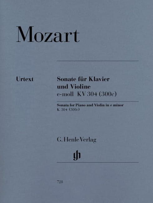 MOZART - Sonata in E Minor Kv 304 300c - Partition - di-arezzo.co.uk