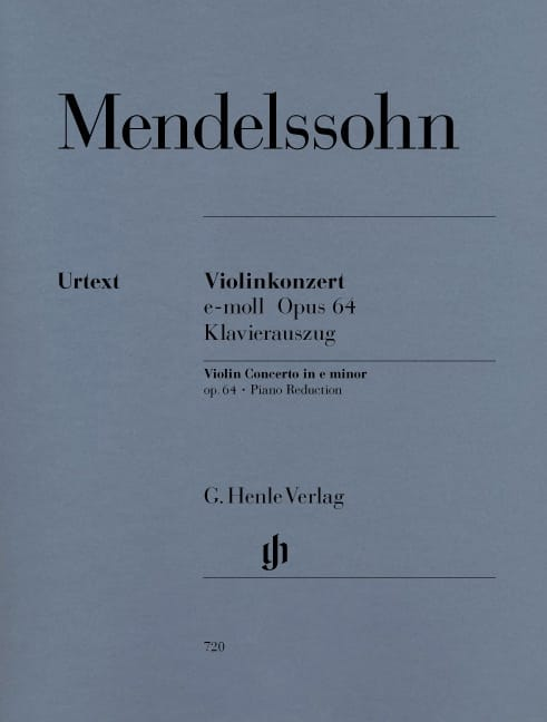 MENDELSSOHN - Violinkonzert e-moll op. 64 - Partition - di-arezzo.co.uk