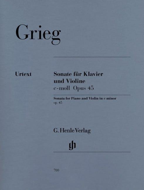 Sonate op. 45 c-moll - GRIEG - Partition - Violon - laflutedepan.com