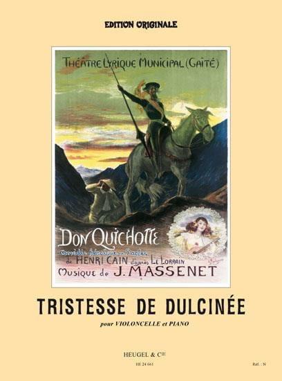 Jules Massenet - Tristesse de Dulcinée, extr. de Don Quichotte - Partition - di-arezzo.fr
