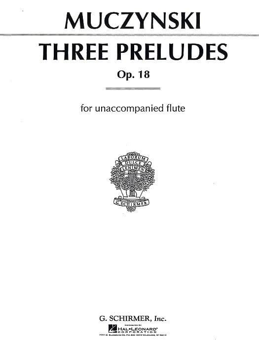 3 Preludes For Flute Solo Opus 18 - laflutedepan.com