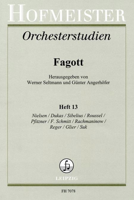Seltmann Werner / Angerhöfer Günter - Orchesterstudien - Fagott - Heft 13 - Partition - di-arezzo.es