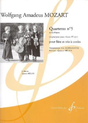 Quartetto n° 5 en la majeur KV 331 -Flûte et trio à cordes - laflutedepan.com
