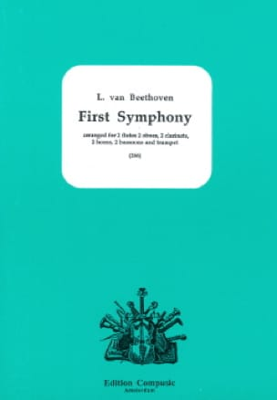 First Symphony - BEETHOVEN - Partition - Sextuors - laflutedepan.com