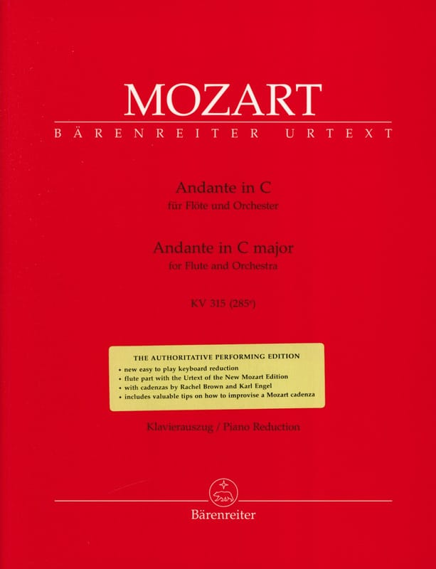 MOZART - Andante In C-Dur Kv 315 - Piano Flute - Partition - di-arezzo.co.uk