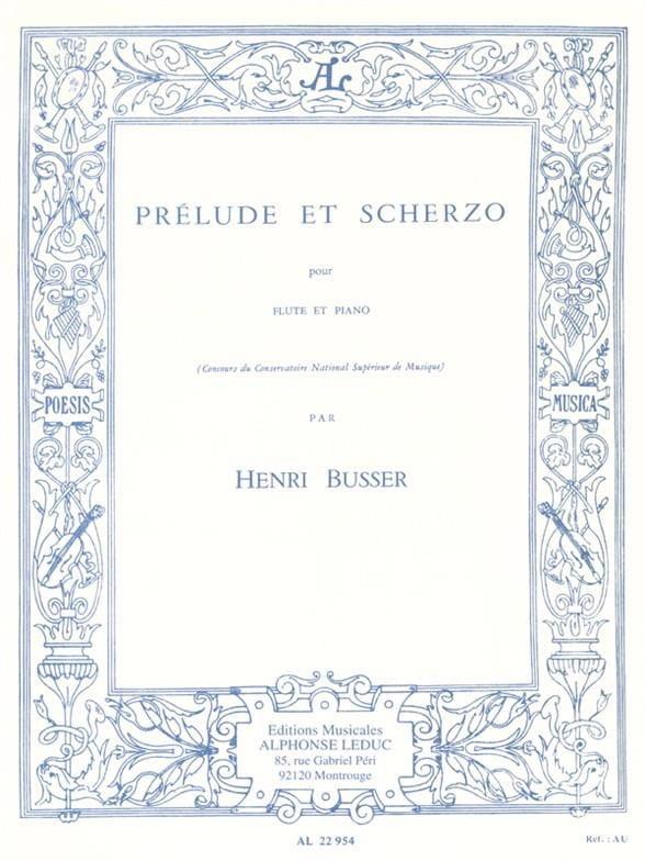 Henri Busser - Preludio y Scherzo op. 35 - Partition - di-arezzo.es