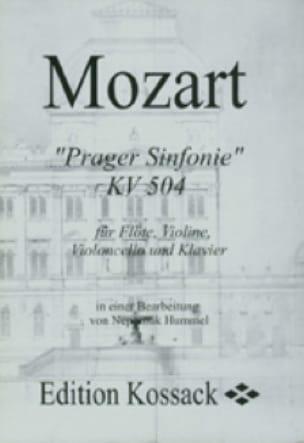 Prager Sinfonie KV 504 Partitur -Flöte Violine Violoncello Klavier - laflutedepan.com