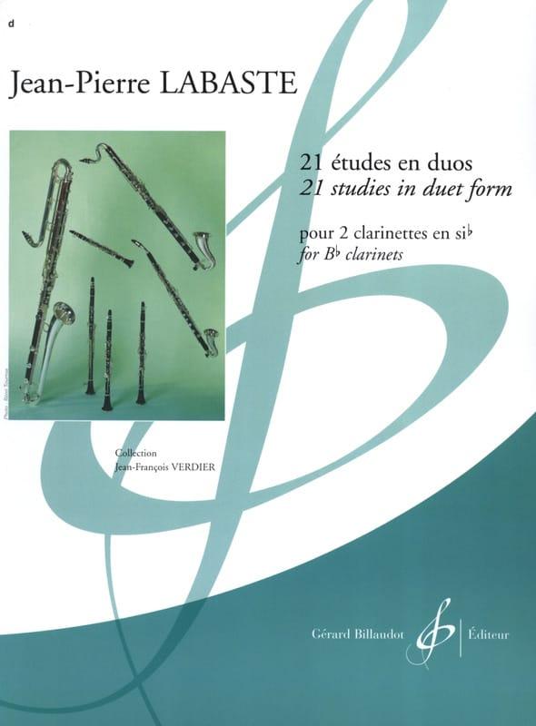 Jean-Pierre Labaste - 21 Studies in duets - Partition - di-arezzo.co.uk