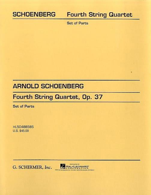 String Quartet n° 4 op. 37 - Parts - SCHOENBERG - laflutedepan.com