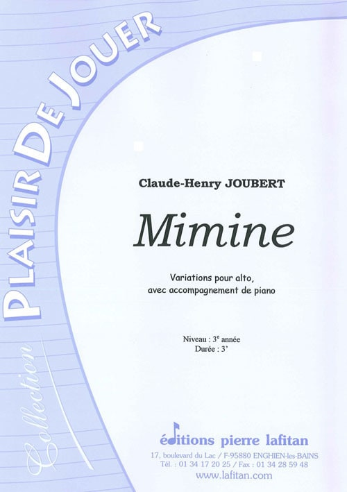 Claude-Henry Joubert - Mimine - Partition - di-arezzo.co.uk