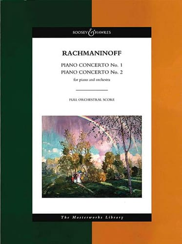 RACHMANINOV - Piano Concertos No. 1 and 2 - Score - Partition - di-arezzo.com