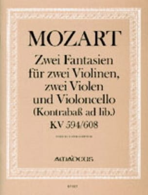 MOZART - 2 Fantasy KV 594 and KV 608 - Partitur Stimmen - Partition - di-arezzo.com