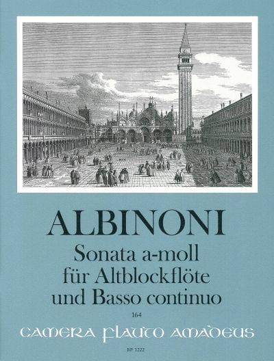 Sonata in a-moll - Altblockflöte u. Bc - ALBINONI - laflutedepan.com