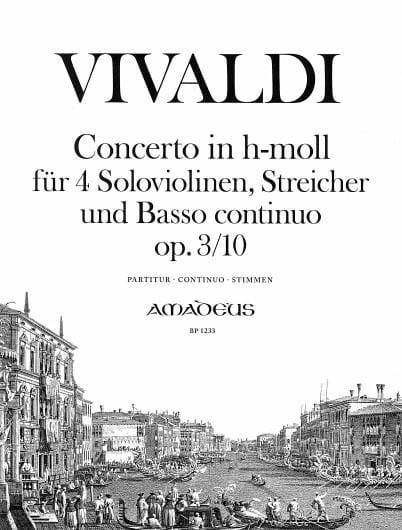 Concerto En Si Min.Op. 3 N° 10 - Rv.580 - VIVALDI - laflutedepan.com