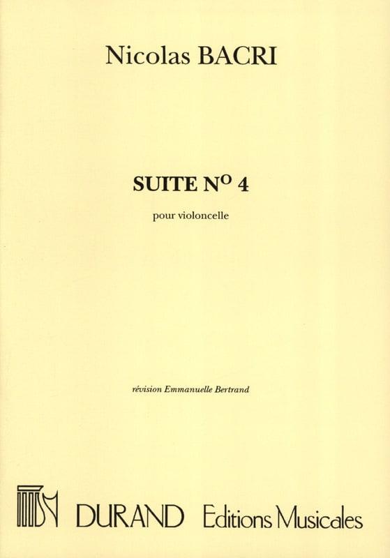 Suite n° 4 - Nicolas Bacri - Partition - laflutedepan.com