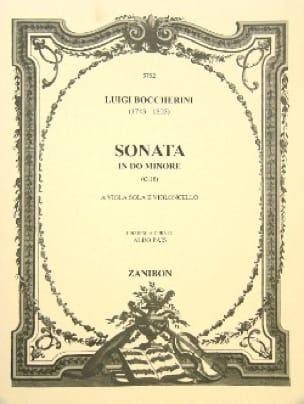 BOCCHERINI - Sonata in C minor - Partition - di-arezzo.co.uk