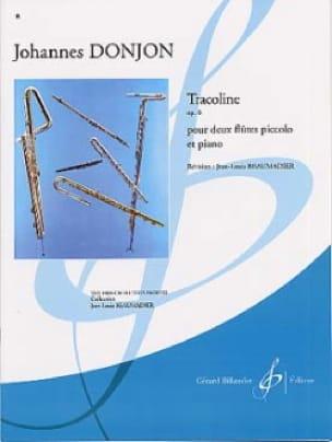 Tracoline op. 6 - Johannes Donjon - Partition - laflutedepan.com