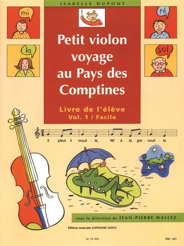 Isabelle Dupont - Small Violin in the Country of the Rhymes Volume 1 - Partition - di-arezzo.com
