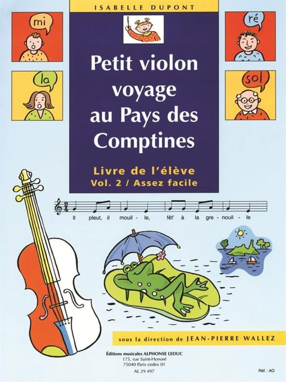 Isabelle Dupont - Small violin in the Country of the Rhymes, Volume 2 - Partition - di-arezzo.co.uk