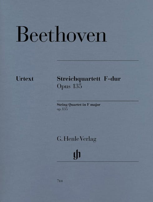 BEETHOVEN - F String Quartet op. 135 - Partition - di-arezzo.co.uk