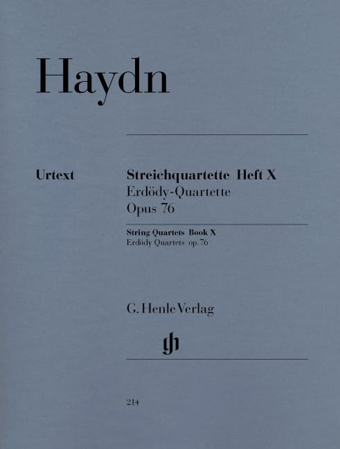 HAYDN - String Quartets X op. 76 Erdödy Foursomes - Partition - di-arezzo.co.uk