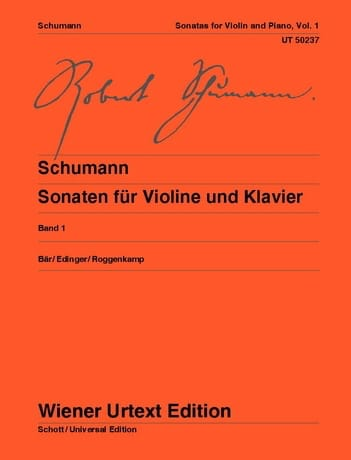 SCHUMANN - Sonatas for violin and piano - Volume 1 - Partition - di-arezzo.com
