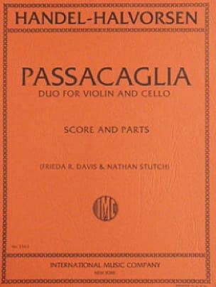 HAENDEL - Passacaglia - Violin cello - Partition - di-arezzo.com
