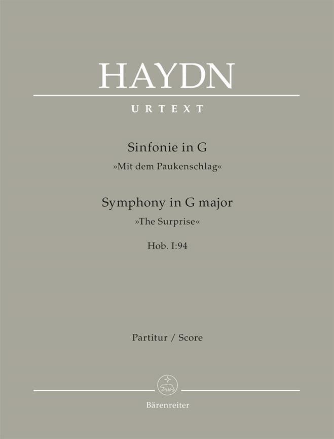 Symphonie Nr. 94 La Surprise G-Dur - Partitur - laflutedepan.com