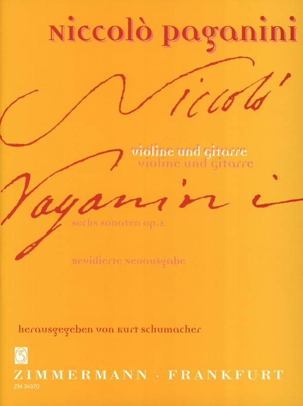 Niccolò Paganini - 6 Sonaten op. 2 - Violine Gitarre - Partition - di-arezzo.co.uk