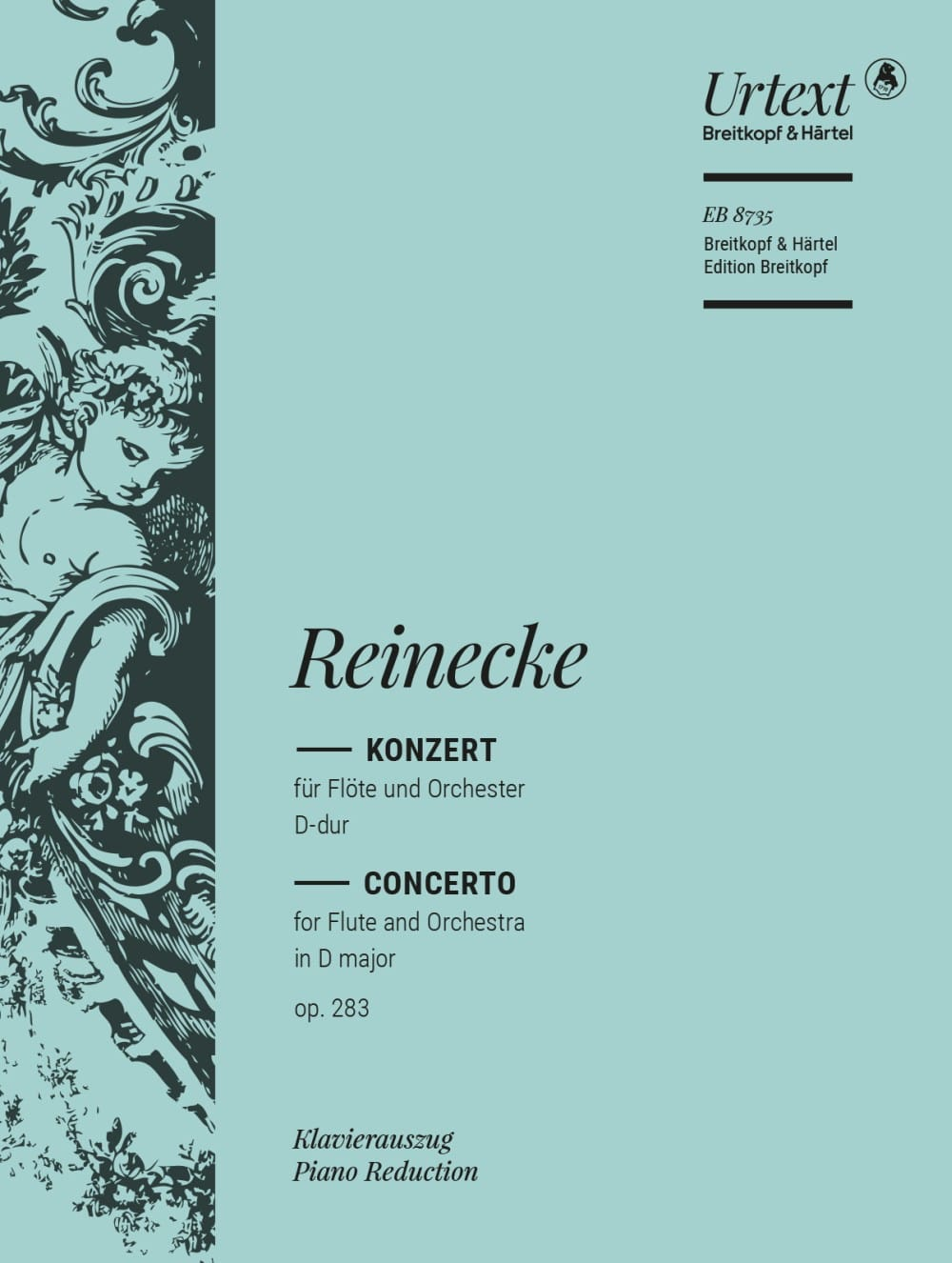 Carl Reinecke - Konzert for Flöte D-Dur op. 283 - Flute and piano - Partition - di-arezzo.com